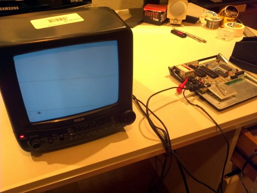 Sinclair ZX81 image on TV