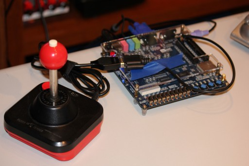 Atari joystick connected to DE1